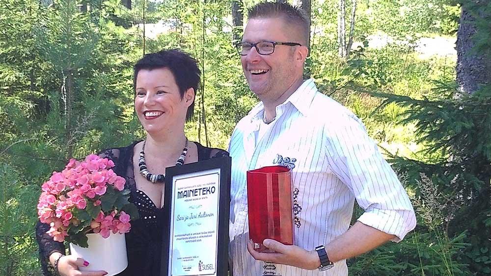 Sari ja Jari Aaltonen Maineteko Palkinto 2013